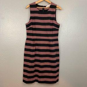 LOFT Striped Sleeveless Sheath Dress